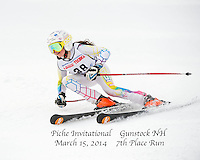Piche Invitational giant slalom at Gunstock.  U12 ladies 1st run.  ©2014 Karen Bobotas Photographer