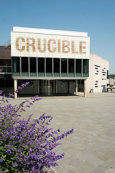 Crucible Theatre viewed from Tudor Square in Sheffield<br />  05 June 2016<br />  Copyright Paul David Drabble<br />  www.pauldaviddrabble.photoshelter.com