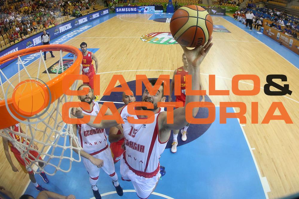 DESCRIZIONE : Celje Slovenia Eurobasket Men 2013 Preliminary Round Georgia Spagna Georgia Spain<br /> GIOCATORE : Nikoloz Tsitikishvili<br /> CATEGORIA : tiro shot special<br /> SQUADRA : Georgia Georgia<br /> EVENTO : Eurobasket Men 2013<br /> GARA : Georgia Spagna Georgia Spain<br /> DATA : 09/09/2013 <br /> SPORT : Pallacanestro <br /> AUTORE : Agenzia Ciamillo-Castoria/ElioCastoria<br /> Galleria : Eurobasket Men 2013<br /> Fotonotizia : Celje Slovenia Eurobasket Men 2013 Preliminary Round Georgia Spagna Georgia Spain<br /> Predefinita :