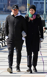Ewan McGregor and girlfriend Mary Elizabeth Winstead share a passionate kiss while walking their dog in Manhattan's Hudson River Park. 01 Mar 2020 Pictured: Ewan McGregor and Mary Elizabeth Winstead. Photo credit: LRNYC / MEGA TheMegaAgency.com +1 888 505 6342