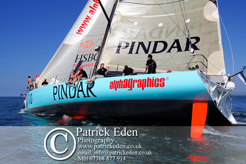 Pindar, Round the island Race, 2005, Cowes, Isle of Wight, England, Sports Photography