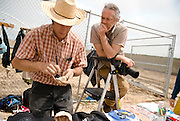 Scott Sady at work photographing a Columbian Mammoth excavation in Castroville, CA, 2011.