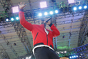 Doug E Fresh performs during the Lip Sync Battle Live at SummerStage in Rumsey Playfield Central Park in New York City, New York on July 13, 2015.