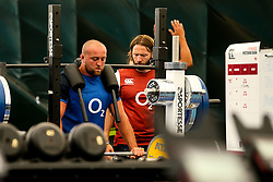 Tom Dunn of England trains in the gym at Clifton College - Mandatory by-line: Robbie Stephenson/JMP - 15/07/2019 - RUGBY - England - England training session ahead of Rugby World Cup