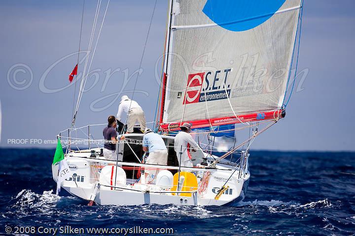 Novedia sailing Race 4 at Antigua Sailing Week.