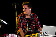 Anberlin performing at the Q101 Jamboree at the First Midwest Bank Amphitheater in Tinley Park, IL on June 4, 2011