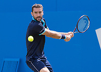 Tennis - 2017 Aegon Championships [Queen's Club Championship] - Day Three, Wednesday<br /> <br /> Men's Singles: Round of 16 _ Tomas Berdych (CZE) Vs Denis Shapovalov (CAN)<br /> <br /> Marin Cilic (CRO) with a backhand return of serve at Queens Club<br /> <br /> COLORSPORT/DANIEL BEARHAM