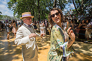 A couple dances to the Dreamland Orchestra, conducted by Michael Aranella, founder and organizer of the Jazz Age Lawn Party.