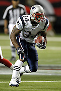 ATLANTA - AUGUST 19:  Running Sammy Morris #34 of the New England Patriots runs with the ball during the preseason game against the Atlanta Falcons at the Georgia Dome on August 19, 2010 in Atlanta, Georgia.  The Patriots beat the Falcons 28-10.  (Photo by Mike Zarrilli/Getty Images)