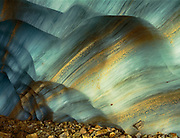 Striated wall of an ice cave, Jasper National Park, Alberta, Canada  1995