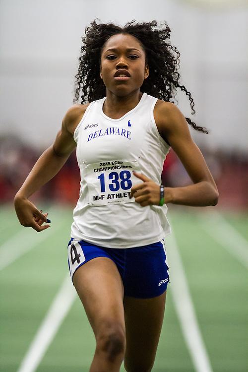 ECAC Indoor Track & Field Championships:  womens 60 semis, Latazah Coleman, University of Delaware Latazah Coleman, sprints, University of Delaware