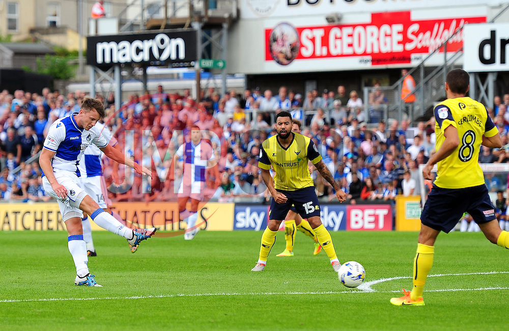 Ollie Clarke of Bristol Rovers takes a shot at goal - Mandatory by-line: Dougie Allward/JMP - 14/08/2016 - FOOTBALL - Memorial Stadium - Bristol, England - Bristol Rovers v Oxford United - Sky Bet League One
