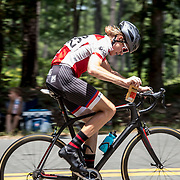 CROZET, VA - JUL 16: Ben puts a fresh water bottle into a cage on his bike at Miller School Road Race in Crozet, Va. on Sunday, July 16, 2017. (Photo by Jay Westcott/The News & Advance)