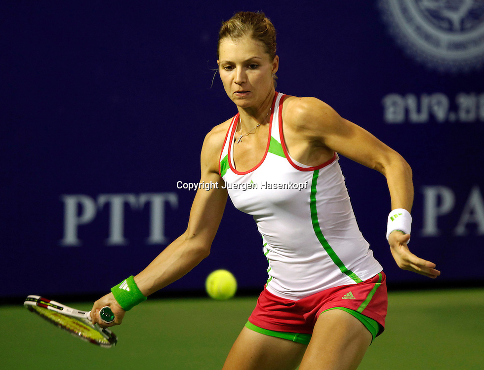 PTT Pattaya Open 2011,WTA Tennis Turnier,. International Series, Dusit Resort in Pattaya,.Thailand, Maria Kirilenko (RUS),action