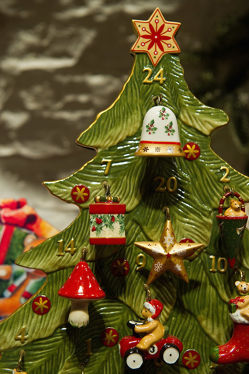 TREVISO, ITALY - DECEMBER 06:  A detailed Christmas tree decoration is seen on December 6, 2011 in Treviso, Italy. Christmas Markets are popular in Northern Italian cities, selling festive items including lights, nativity scenes, decorations and local festive handicrafts. In most cities they will run from the end of November to January 6th. HOW TO LICENCE THIS PICTURE: please contact us via e-mail at sales@xianpix.com or call our offices in London   +44 (0)207 1939846 for prices and terms of copyright. First Use Only ,Editorial Use Only, All repros payable, No Archiving.© MARCO SECCHI