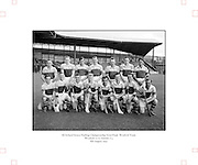Neg No:.569/7823-7826...8081954AISHCSF1...08.08.1954, 8th August 1954...All Ireland Senior Hurling Championship - Semi-Final..Wexford.12-17..Antrim.2-3...Wexford. ..A. Foley, W. Rackard, N. ODonnell, M. OHanlon, J. English, R. Rackard, E. Wheeler, J. Morrissey, S. Hearne, Paddy Kehoe, T. Flood, Padge Kehoe (Captain), T. Ryan, N. Rackard, R. Donovan.Subs: T. Bolger for ODonnell; D. Aherne for Paddy Kehoe.Padge Kehoe (Captain). .