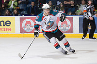 KELOWNA, CANADA, JANUARY 4: Filip Vasko #10 of the Kelowna Rockets skates on the ice as the Spokane Chiefs visit the Kelowna Rockets on January 4, 2012 at Prospera Place in Kelowna, British Columbia, Canada (Photo by Marissa Baecker/Getty Images) *** Local Caption ***