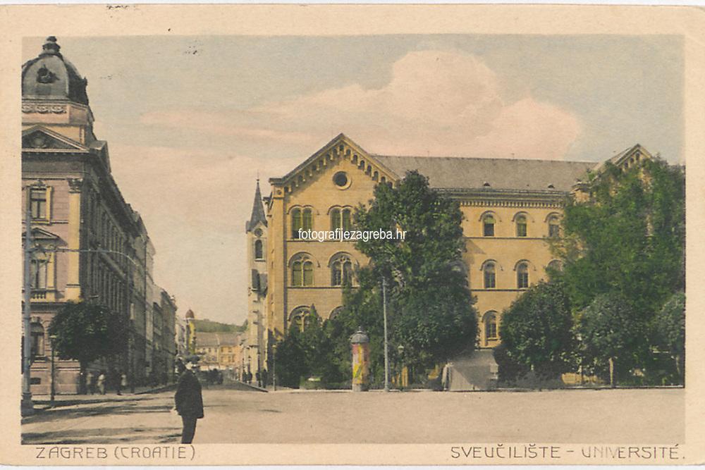 Zagreb (Croatie) : Sveučilište = Université. <br /> <br /> ImpresumZagreb : Papirnica Auer, [1912].<br /> Materijalni opis1 razglednica : tisak ; 9 x 13,9 cm.<br /> Medij544765<br /> NakladnikNaklada R. F. Auer<br /> Mjesto izdavanjaZagreb<br /> Vrstavizualna građa • razglednice<br /> ZbirkaGrafička zbirka NSK • Zbirka razglednica<br /> Formatimage/jpeg<br /> PredmetZagreb –– Trg Republike Hrvatske<br /> SignaturaRZG-TMT-4<br /> Obuhvat(vremenski)20. stoljeće<br /> NapomenaRazglednica je putovala 1912. godine.<br /> PravaJavno dobro<br /> Identifikatori000953121<br /> NBN.HRNBN: urn:nbn:hr:238:539484 <br /> <br /> Izvor: Digitalne zbirke Nacionalne i sveučilišne knjižnice u Zagrebu