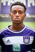 Anderlecht's Samuel Bastien pictured during the 2015-2016 season photo shoot of Belgian first league soccer team RSC Anderlecht, Tuesday 14 July 2015 in Brussels.