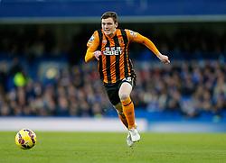 Andrew Robertson of Hull City in action - Photo mandatory by-line: Rogan Thomson/JMP - 07966 386802 - 13/12/2014 - SPORT - FOOTBALL - London, England - Stamford Bridge - Chelsea v Hull City - Barclays Premier League.