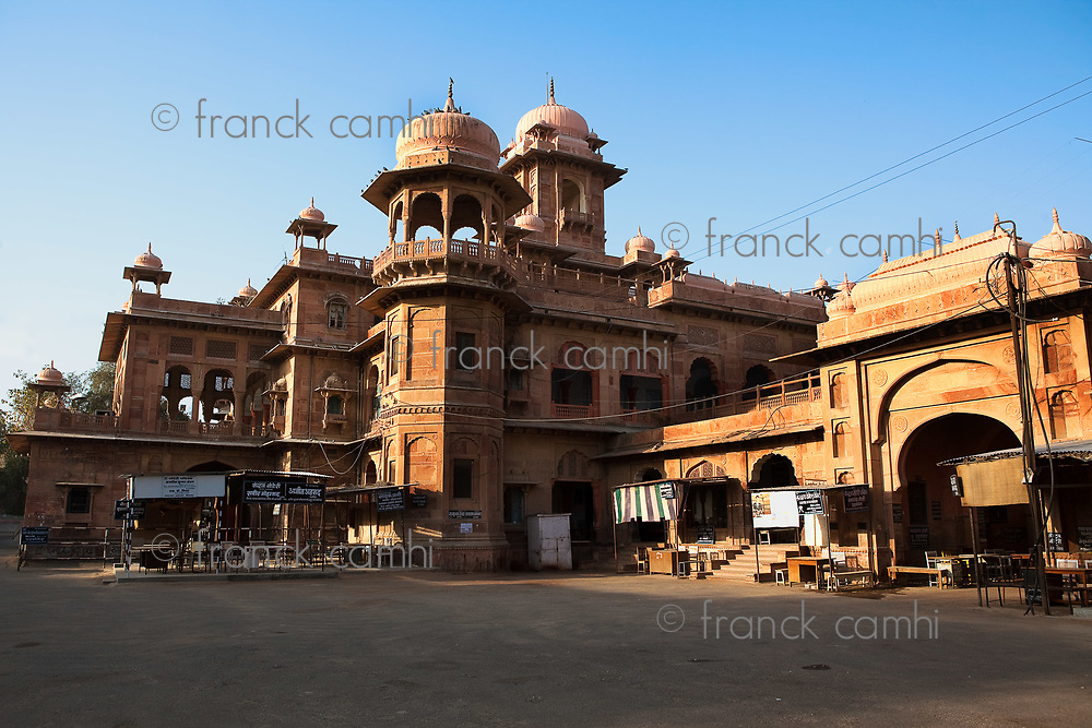 old market in the old city of Bikaner rajasthan state in india