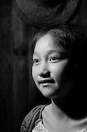 Kaili, Guizhou, China, August 10th 2007: Portrait of an 11 year old Miao girl..Photo: Joseph Feil
