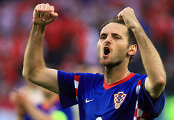 Josip Simunic of Croatia after the UEFA EURO 2008 Group B soccer match between Austria and Croatia at Ernst-Happel Stadium, on June 8,2008, in Vienna, Austria.  (Photo by Vid Ponikvar / Sportal Images)