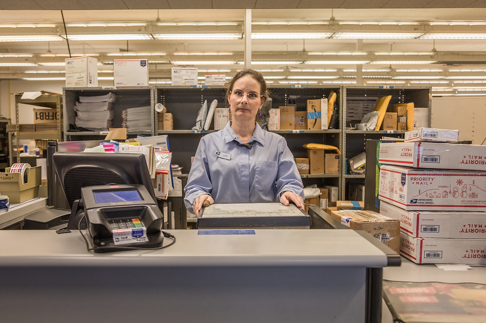 """I've been here the longest of anyone working here...um...27 years...since the day after the loma linda earthquake.""  ""My kids say that where ever we go, people always know who I am.""  -Calistoga post office clerk Lori Cantrell"