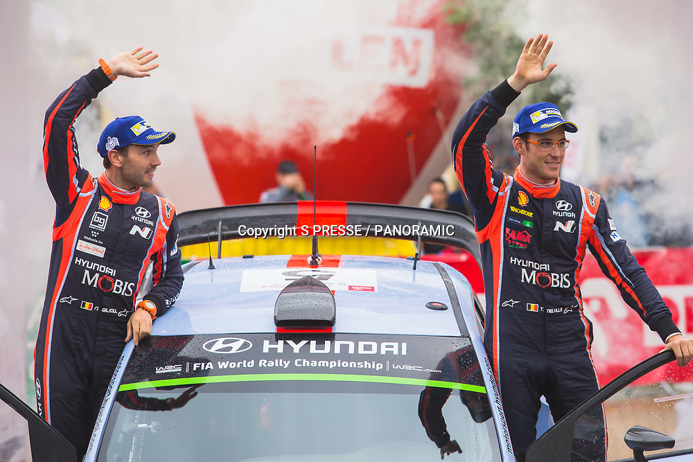 Thierry Neuville and Nicolas Gilsoul winners of Rally Poland.<br /> Day 4 of the WRC Rally of Poland. 2 July 2017.<br /> Copyright photo: Panoramic / www.photosport.nz