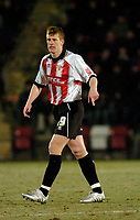 Photo: Leigh Quinnell.<br /> Cheltenham Town v Colchester United. LDV Vans Trophy.<br /> 24/01/2006. Cheltenhams Craig Armstrong shows Newcastle the pitch.