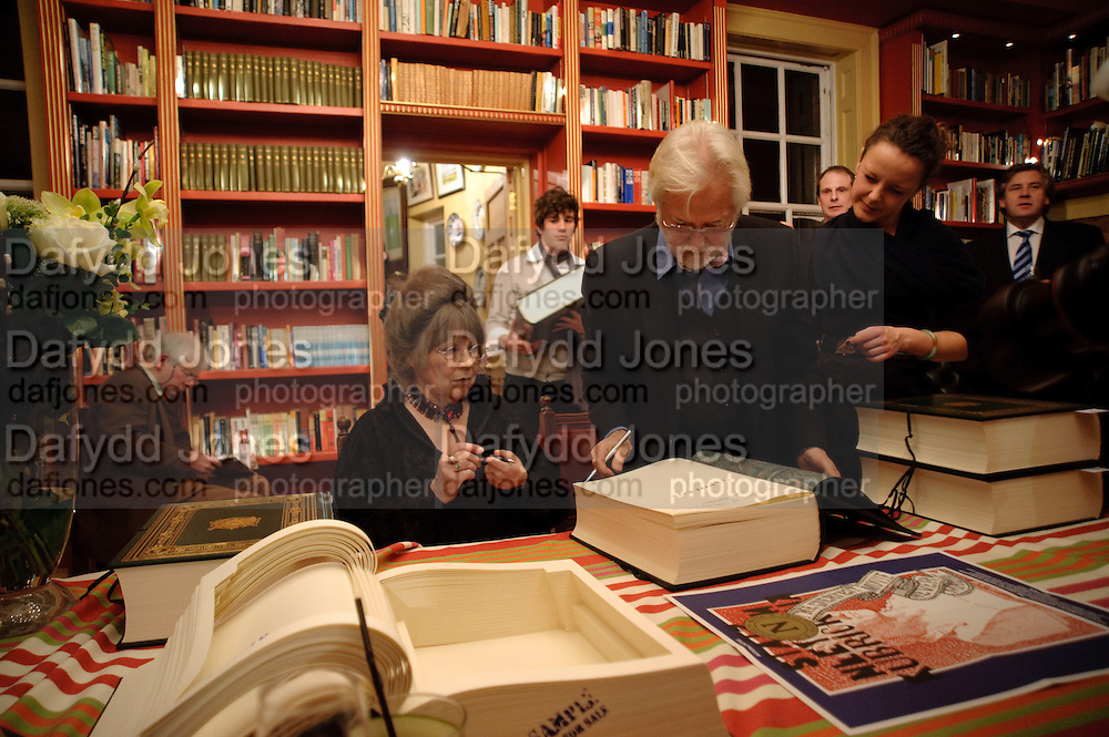 CHRISTIANE KUBRICK; JAN HARLAN; SIGNING COPIES OF THE £450 BOOK , Stanley Kubrick's Napoleon. The Greatet Movie Never Made. Book launch.  Published by Taschen. Launch held at Kubrick's family home Childwickbury House. Harpenden. 8 December 2009