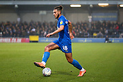 AFC Wimbledon defender Nesta Guinness-Walker (18) performing step over during the EFL Sky Bet League 1 match between AFC Wimbledon and Southend United at the Cherry Red Records Stadium, Kingston, England on 1 January 2020.