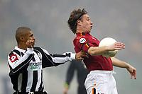 Roma 22/2/2004 <br />Roma Siena 6-0 <br />Antonio Cassano (Roma) challenged by JUAREZ de Sousa Texeira (Siena)<br />Photo Andrea Staccioli Graffiti