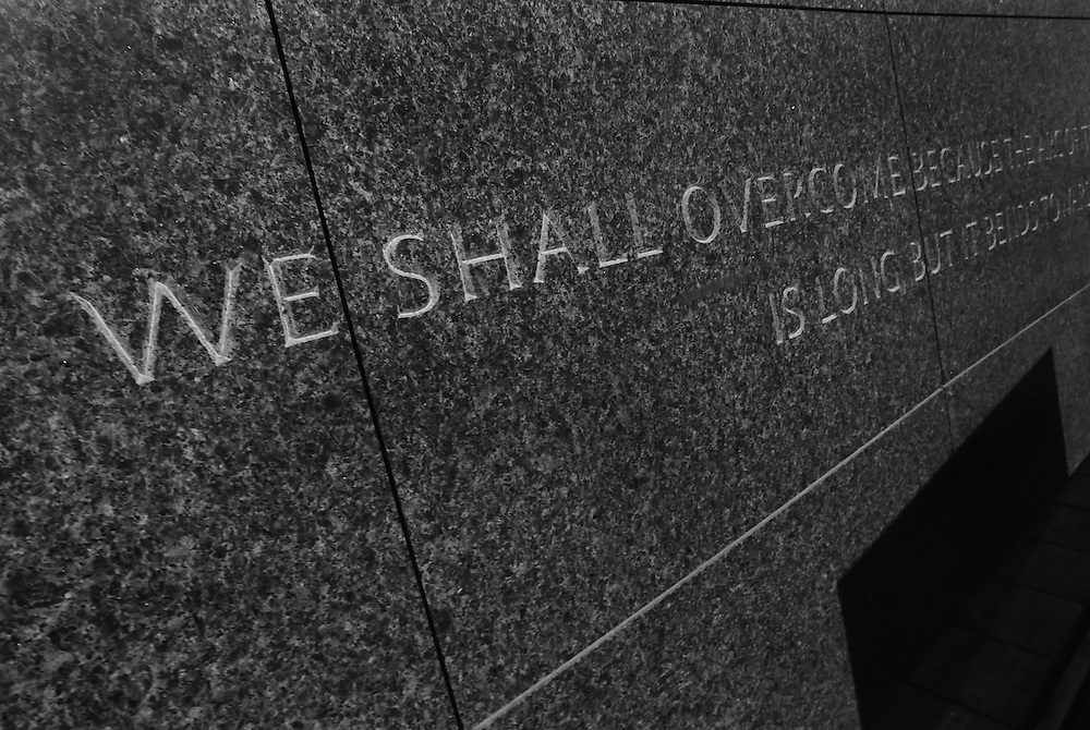 WASHINGTON (May 26, 2007) -- Within the memorial, quotes from Dr. King's sermons and speeches, arranged chronologically according to his life, are to be inscribed at a large scale on the glistening smooth surfaces of the water wall. These passages will be reinforced through the referential use of water, stone and light as metaphorical elements that heighten an awareness of his message. To commemorate the life and work of Dr. Martin Luther King, Jr., the creation of a memorial to honor his national and international contributions to world peace through non-violent social change is happening in Washington, DC.  Located in West Potomac Park, the Martin Luther King, Jr. National Memorial looks to perform an official dedication on Sunday, August 28, 2011, the 48th anniversary of the March on Washington and Dr. King's historic I Have A Dream speech.  Photo by Johnny Bivera