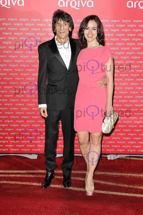 LONDON - JULY 04: Ronnie Wood; Sally Humphreys attended the Arqiva Commercial Radio Awards at the Park Plaza Westminster Bridge, London, UK. July 04, 2012. (Photo by Richard Goldschmidt)