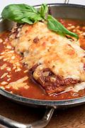 Cheese crusted lasagna
