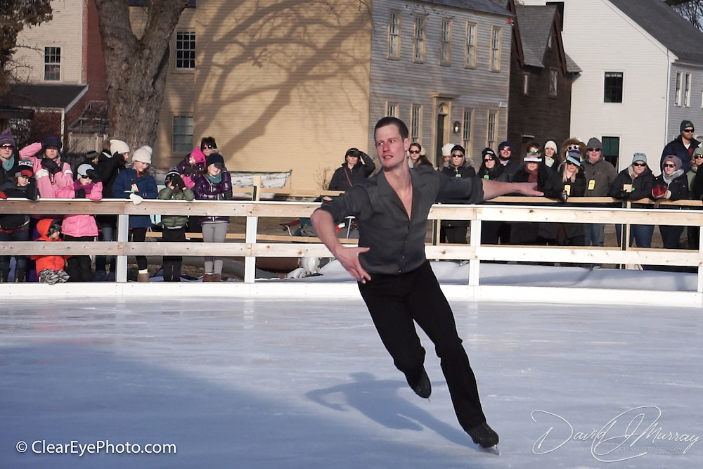 Wesley Campbell performs with Ice Dance International at Strawbery Banke, Portsmouth NH on Jan 14, 2017