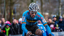 Sven NYS (1,BEL), 7th lap at Men UCI CX World Championships - Hoogerheide, The Netherlands - 2nd February 2014 - Photo by Pim Nijland / Peloton Photos