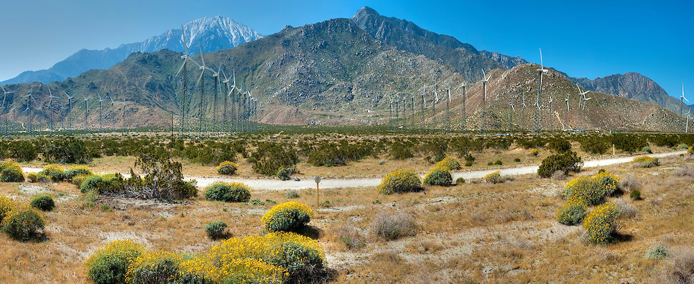 Palm Springs, CA, San Gorgonio Pass, Coachella Valley, Wind, Turbine, renewable, electric, power, generation, alternative, tubular, shaped, towers, turbines, California,  Wind, Turbines, Green, Energy, field, farm North