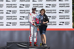 September 2, 2018 - Portland, Oregon, United Stated - SEBASTIEN BOURDAIS (18) of France finishes in third during the Portland International Raceway at Portland International Raceway in Portland, Oregon. (Credit Image: © Justin R. Noe Asp Inc/ASP via ZUMA Wire)