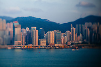 A view over the bay in Hong Kong.