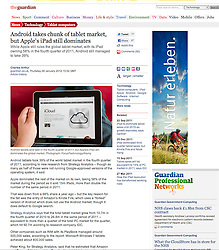The Guardian; iPad being used