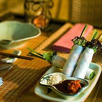 "Dish ""Fresh Mint roll shrimp"" at Nuage  Restaurtant and in Beijing, China, on Monday  May 25, 2009/ Photographer: Bernardo De Niz/"