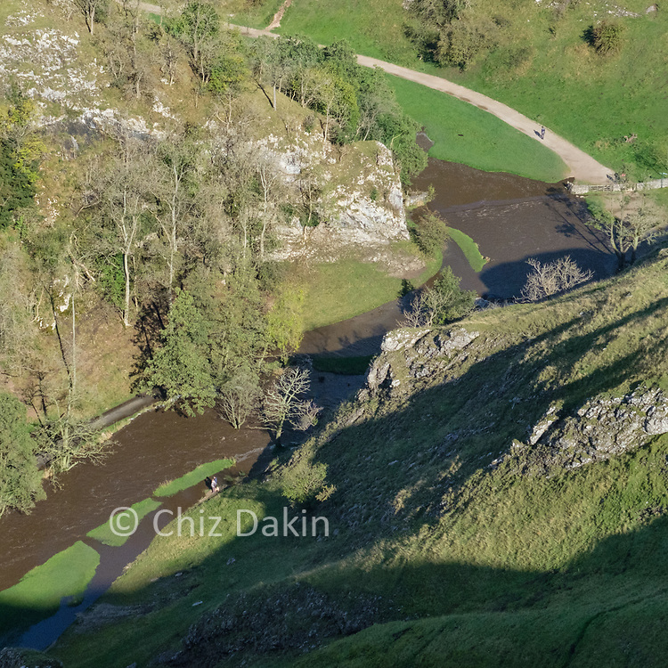 Looking down into Dovedale from Thorpe Cloud