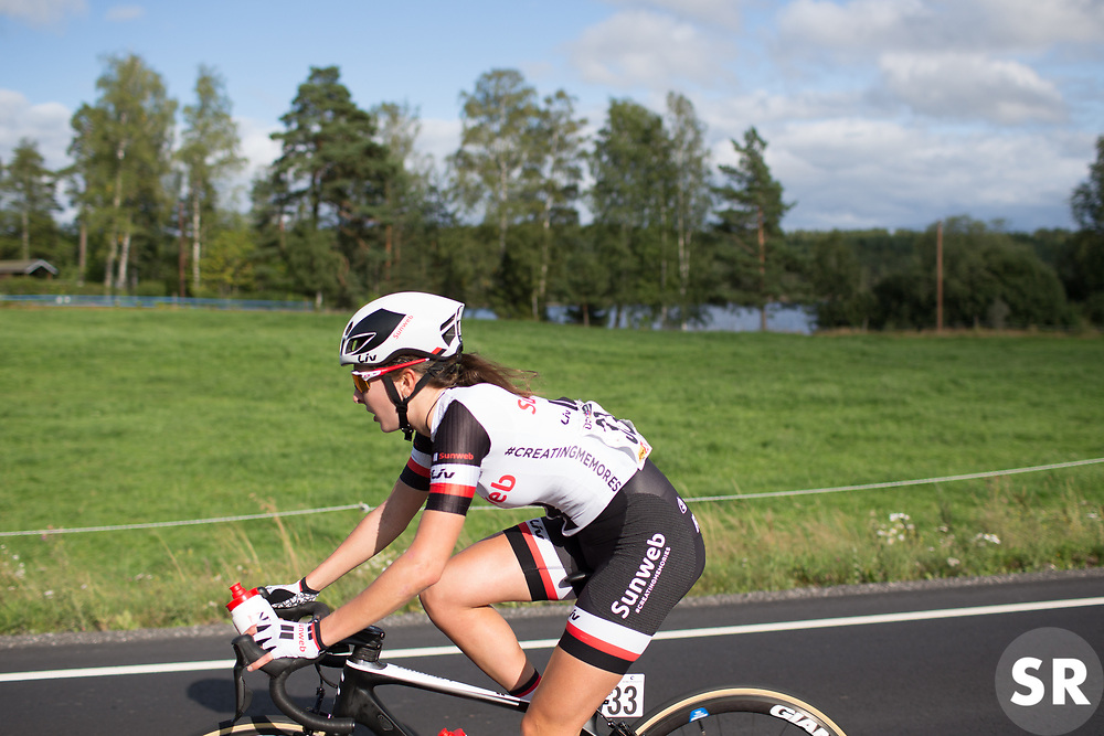 \jullab of Team Sunweb drops back for bottles on Stage 1 of the Ladies Tour of Norway - a 101.5 km road race, between Halden and Mysen on August 18, 2017, in Ostfold, Norway. (Photo by Balint Hamvas/Velofocus.com)
