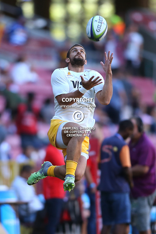 CAPE TOWN, SOUTH AFRICA, March 4th 2017 - Ramiro Moyano of the Jaguares during the Super Rugby match between the DHL Stormers and the Jaguares at DHL Newlands ,Cape Town<br /> (Photo by Shaun Roy - Steve Haag Sports)
