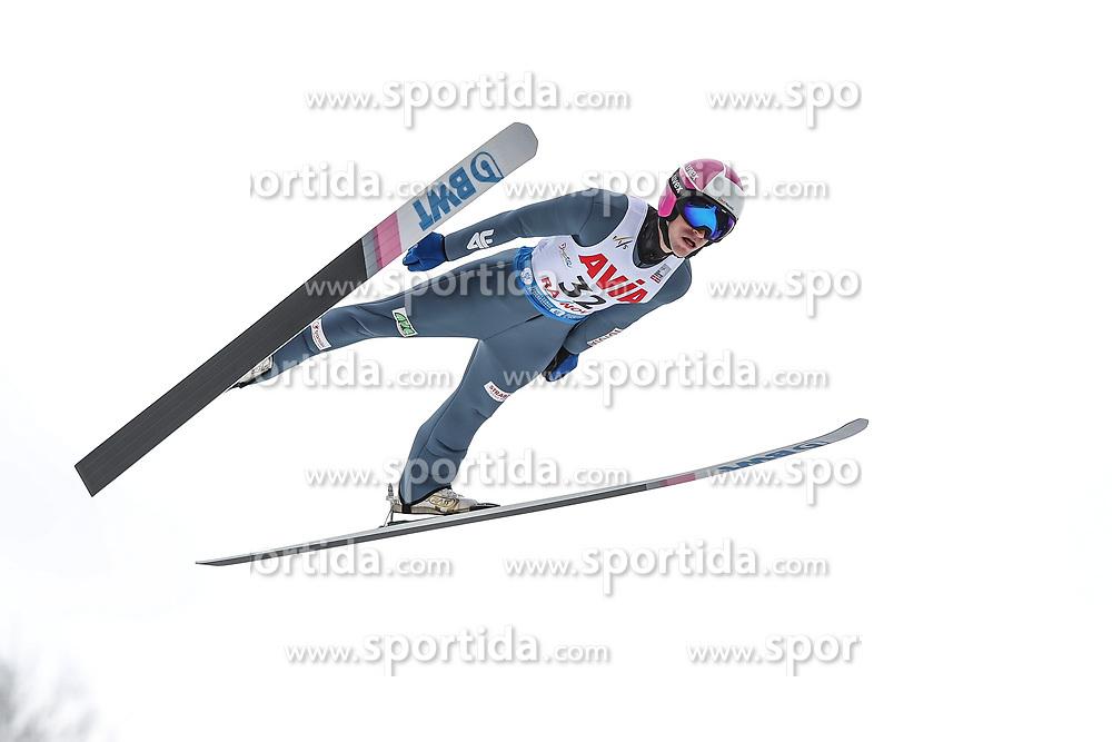 21.02.2020, Trambulina Valea Carbunarii, Rasnov, ROM, FIS Weltcup Ski Sprung, Herren, Wertungsdurchgang, im Bild Roman Koudelka (CZE) // Roman Koudelka (CZE) during his competition jump for the men's FIS Ski Jumping World Cup at the Trambulina Valea Carbunarii in Rasnov, Romania on 2020/02/21. EXPA Pictures © 2020, PhotoCredit: EXPA/ Tadeusz Mieczynski