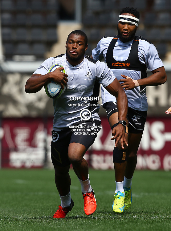 DURBAN, SOUTH AFRICA, 8 September, 2016 - S'bura Sithole during The Cell C Sharks training session at Growthpoint Kings Park in Durban, South Africa. (Photo by Steve Haag)<br /> <br /> images for social media must have consent from Steve Haag