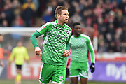 Chris Robertson (5) of Swindon Town during the EFL Sky Bet League 2 match between Exeter City and Swindon Town at St James' Park, Exeter, England on 24 March 2018. Picture by Graham Hunt.