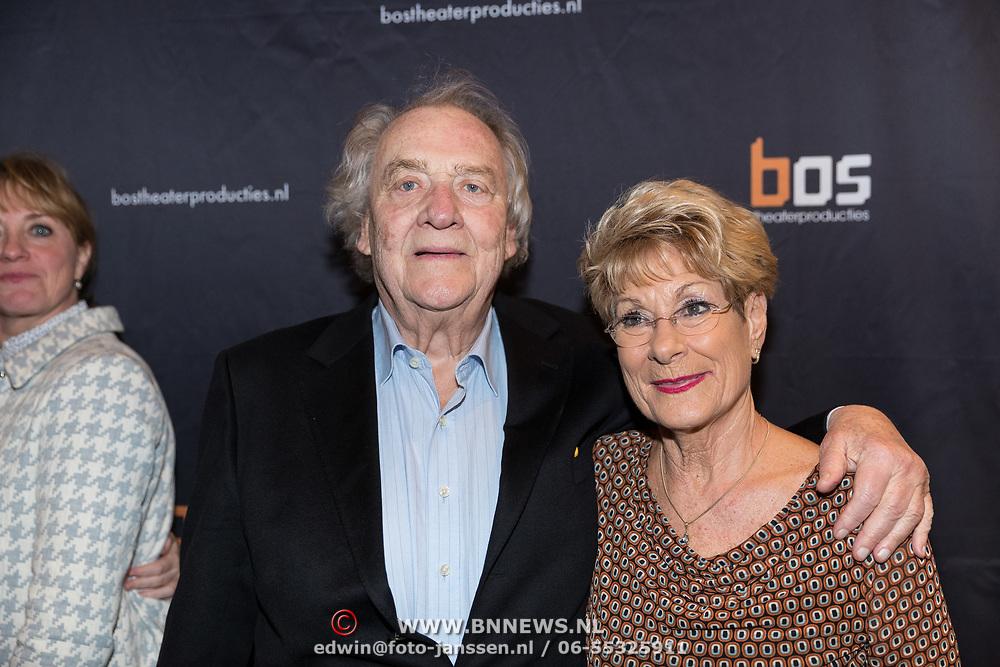 NLD/Amsterdam/20180222 - Premiere Vele Hemels boven de Zevende, Jules Croiset en partner Puck Croiset